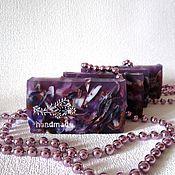 """Косметика ручной работы. Ярмарка Мастеров - ручная работа Мыло ручной работы """"Чародейка"""", фиолетовый, подарки на 8 марта, шебби. Handmade."""