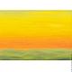 Пейзаж ручной работы. Картина маслом Летний Закат желтый оранжевый зеленый пейзаж. Юлия (Julrust). Интернет-магазин Ярмарка Мастеров.