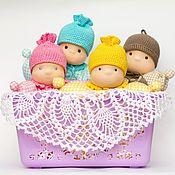 Куклы и игрушки handmade. Livemaster - original item Butterfly doll, Comforter in a knitted cap, 26 cm. Handmade.