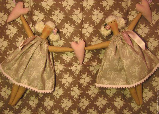 Куклы Тильды ручной работы. Ярмарка Мастеров - ручная работа. Купить Подвеска Осень - время мечтать .... Handmade. Бежевый