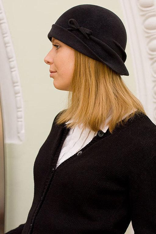Шляпы ручной работы. Ярмарка Мастеров - ручная работа. Купить клош серый асфальт. Handmade. Темно-серый, женская шляпка