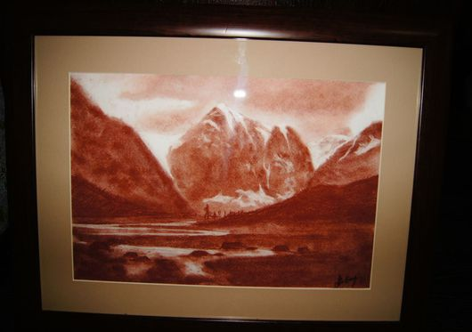 `Ледники Актру` - работа вдохновленная природой Алтая.