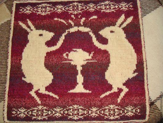 Текстиль, ковры ручной работы. Ярмарка Мастеров - ручная работа. Купить Вязаное сиденье Чай вдвоём. Handmade. Сиденье, жаккард