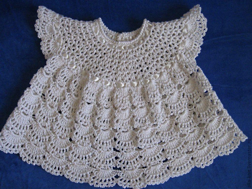 Для малышей крючком платья