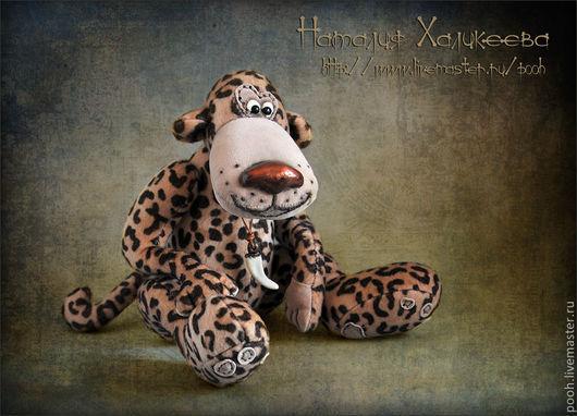 """Мишки Тедди ручной работы. Ярмарка Мастеров - ручная работа. Купить Коллекционная игрушка Леопард """"Лео"""". Handmade. Интерьерная игрушка"""