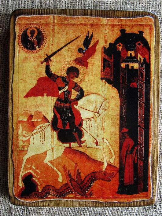 Икона ` Чудо Георгия о змие` одна из самых популярных Северорусских икон.