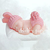 Материалы для творчества handmade. Livemaster - original item Silicone molds for soap Baby in a knitted cap and diapers. Handmade.