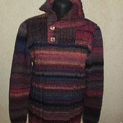 Одежда ручной работы. Ярмарка Мастеров - ручная работа Очень теплый вязаный свитер 102. Handmade.