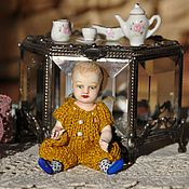 Куклы и игрушки ручной работы. Ярмарка Мастеров - ручная работа Коллекционная маленькая куколка по мотивам антикварных (ПРОДАНА). Handmade.