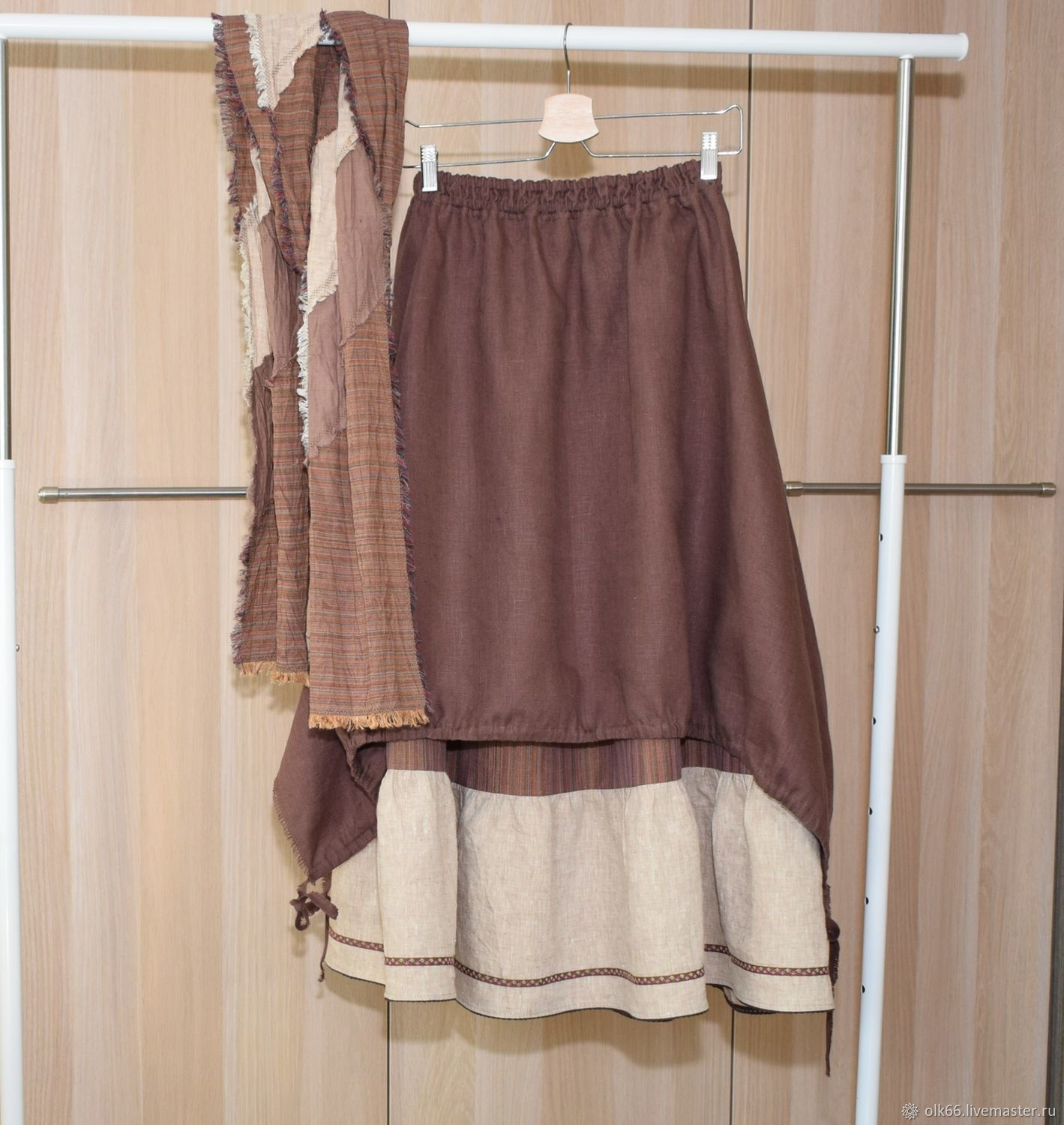 skirt boho linen skirt, boho skirt linen, skirt in boho style, linen clothing, boho style, boho long skirt, linen long skirt, long skirt, summer skirt, large size skirt, big size, s