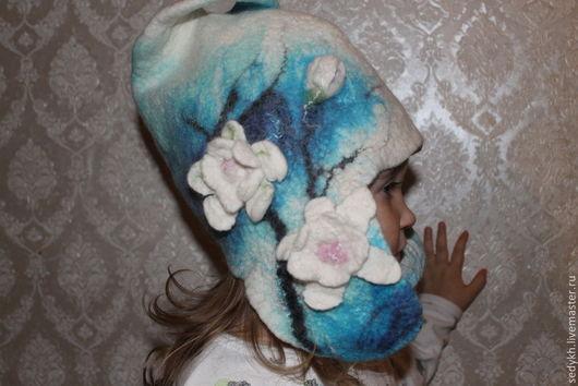 Шапки и шарфы ручной работы. Ярмарка Мастеров - ручная работа. Купить Водяные лилии. Handmade. Бирюзовый, шапка зимняя