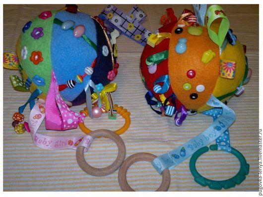 """Развивающие игрушки ручной работы. Ярмарка Мастеров - ручная работа. Купить Развивающий мячик """"Радуга"""". Handmade. Развивающая игрушка"""