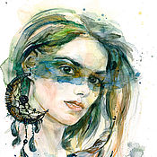 Картины и панно handmade. Livemaster - original item watercolor Portrait by the author. Handmade.