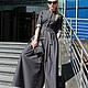 Платья ручной работы. Ярмарка Мастеров - ручная работа. Купить Платье в пол/платье длинное/платье джинсовое. Handmade. Серый, платье для отдыха