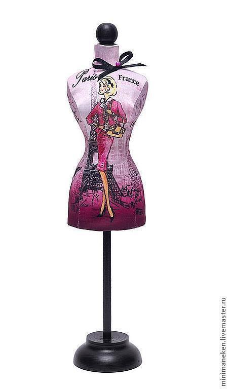 """Статуэтки ручной работы. Ярмарка Мастеров - ручная работа. Купить Статуэтка Мини-манекен женский """"PARIS"""". Handmade. Розовый"""