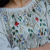 Одежда handmade. Livemaster - original item Elegant blouse with embroidery