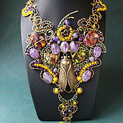 Украшения handmade. Livemaster - original item necklace royal cicada. Handmade.