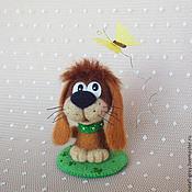 Куклы и игрушки ручной работы. Ярмарка Мастеров - ручная работа Собачка и бабочка. Handmade.