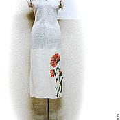 """Одежда ручной работы. Ярмарка Мастеров - ручная работа Льняной сарафан """"Маки"""". Handmade."""