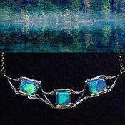 Украшения handmade. Livemaster - original item Acteya necklace with opals. Handmade.