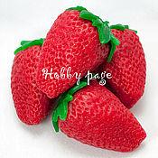 Материалы для творчества handmade. Livemaster - original item Silicone molds for soap Strawberry with leaf. Handmade.