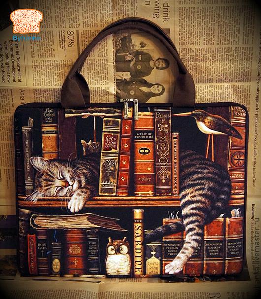"""Сумки для ноутбуков ручной работы. Ярмарка Мастеров - ручная работа. Купить Сумка для ноутбука """"Спящий кот"""". Handmade. Сумка для ноутбука"""