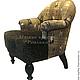 Мебель ручной работы. Ярмарка Мастеров - ручная работа. Купить Кресло для дома комбинированное. Handmade. Кресло, мягкое кресло