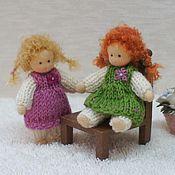 Куклы и игрушки ручной работы. Ярмарка Мастеров - ручная работа Игровые куколки 6.5 см. Handmade.