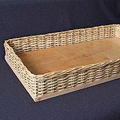 Для дома и интерьера ручной работы. Ярмарка Мастеров - ручная работа Плетеная коробка с фанерным дном. Handmade.