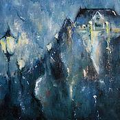 Картины и панно ручной работы. Ярмарка Мастеров - ручная работа Дождливая ночь. Handmade.