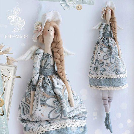 Куклы Тильды ручной работы. Ярмарка Мастеров - ручная работа. Купить Интерьерная кукла Тильда Клэр в шляпке с цветами. Handmade.