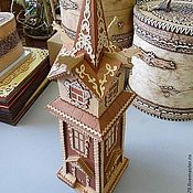 Подарки к праздникам handmade. Livemaster - original item House with dragons made of birch bark. Handmade gift. Handmade.