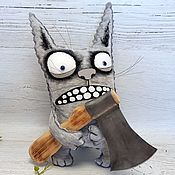 Куклы и игрушки handmade. Livemaster - original item I really want love. Plush grey cat by Vasya Lozhkin. Handmade.