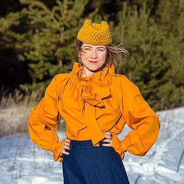 Одежда ручной работы. Ярмарка Мастеров - ручная работа Рыжий квадрат - блузка. Handmade.