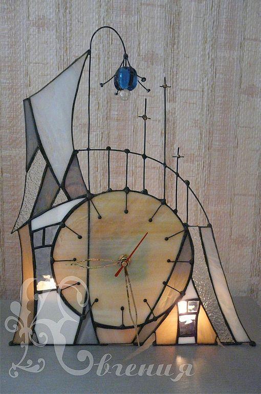 """Часы для дома ручной работы. Ярмарка Мастеров - ручная работа. Купить Часы """" Сказочный домик"""""""". Handmade. Часы необычные"""