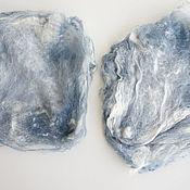 Волокна ручной работы. Ярмарка Мастеров - ручная работа Волокна: Шелковые квадраты малбери  для валяния 5 грамм. Handmade.