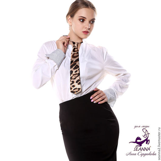 Галстуки, бабочки ручной работы. Ярмарка Мастеров - ручная работа. Купить Эффектный женский галстук с завязанным узлом, регулируется на любую ше. Handmade.