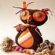 Игрушки животные, ручной работы. Ярмарка Мастеров - ручная работа. Купить Авторская текстильная кукла – Сова «ФАВА». Handmade.