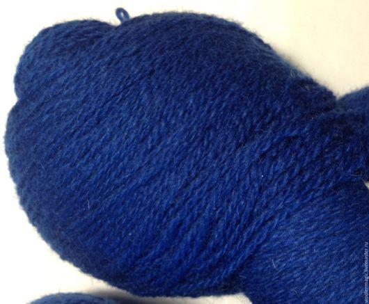 Вязание ручной работы. Ярмарка Мастеров - ручная работа. Купить Пряжа Кауни Clear blu - 8/2. Handmade. Тёмно-синий