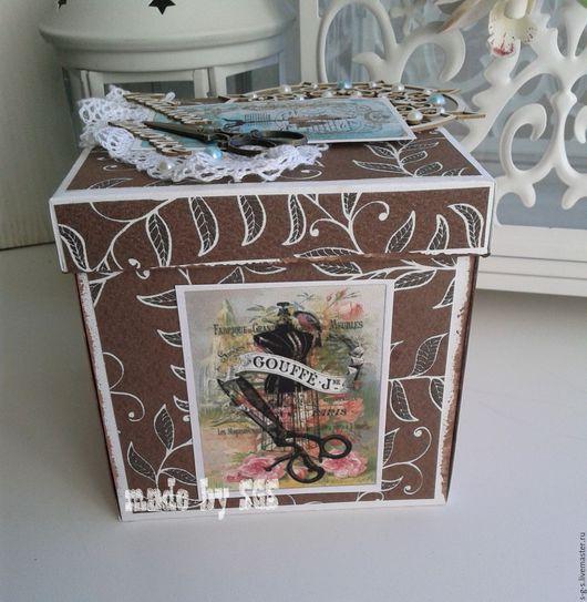 Открытки на все случаи жизни ручной работы. Ярмарка Мастеров - ручная работа. Купить Magic box  в винтажном стиле. Handmade. Комбинированный