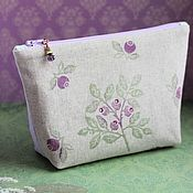 Сумки и аксессуары handmade. Livemaster - original item Cosmetic Bag Spring. The cosmetic bag is sewn. Convenient cosmetic bag to buy. Handmade.