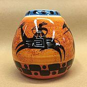 Посуда handmade. Livemaster - original item Calabas Horsemen with Bombillae porcelain (author painting). Handmade.