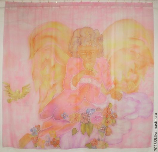 """Текстиль, ковры ручной работы. Ярмарка Мастеров - ручная работа. Купить Тюль """"Ангел"""". Handmade. Розовый, шторы, шторы на заказ"""