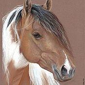 Картины и панно ручной работы. Ярмарка Мастеров - ручная работа картина пастелью Пятнистая - портрет лошади. Handmade.