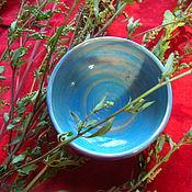 Посуда ручной работы. Ярмарка Мастеров - ручная работа Голубая пиала Хюгге. Handmade.