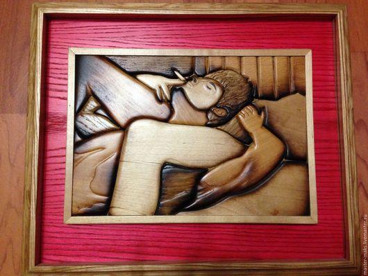 Люди, ручной работы. Ярмарка Мастеров - ручная работа. Купить Деревянная картина Гейша. Handmade. Картина, панно, дерево