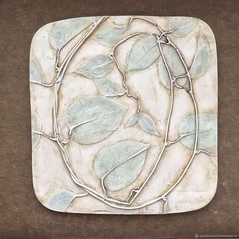 Лимонник Гипсовое панно Отливки цветов Оттиски цветов Ботанический барельеф