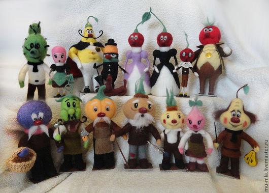 Сказочные персонажи ручной работы. Ярмарка Мастеров - ручная работа. Купить Чиполлино и компания. Handmade. Чиполлино, чиполлино кукла