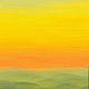 Пейзаж ручной работы. Заказать Картина маслом Летний Закат желтый оранжевый зеленый пейзаж. Юлия (Julrust). Ярмарка Мастеров.