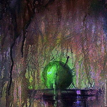 Картины и панно ручной работы. Ярмарка Мастеров - ручная работа Красное яблоко.... Handmade.